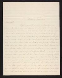 Letter from Jane Scudder to her family