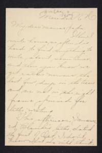 Letter from Amy Roberts Jones to  Augustus H. Roberts and Mary A. Roberts, 1895 December 9