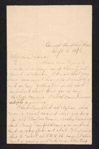 Letter from Amy Roberts Jones to  Mary A. Roberts, 1896 September 16