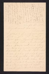 Letter from Amy Roberts Jones to  Mary A. Roberts, 1896 September 25