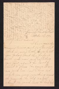 Letter from Amy Roberts Jones to  Mary A. Roberts, 1896 October 4