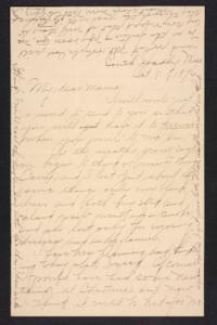 Letter from Amy Roberts Jones to  Mary A. Roberts, 1896 October 8