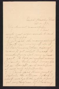 Letter from Amy Roberts Jones to  Augustus H. Roberts and Mary A. Roberts, 1896 October 14