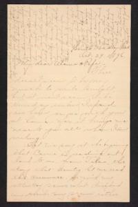 Letter from Amy Roberts Jones to  Augustus H. Roberts and Mary A. Roberts, 1896 October 29