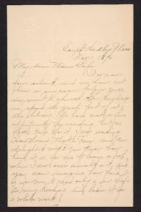 Letter from Amy Roberts Jones to  Augustus H. Roberts and Mary A. Roberts, 1896 November 1