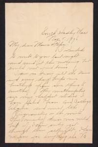 Letter from Amy Roberts Jones to  Augustus H. Roberts and Mary A. Roberts, 1896 November 5