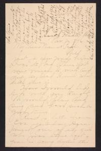 Letter from Amy Roberts Jones to  Augustus H. Roberts and Mary A. Roberts, 1896 November 8