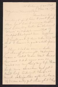 Letter from Amy Roberts Jones to  Augustus H. Roberts and Mary A. Roberts, 1896 November 13