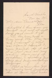 Letter from Amy Roberts Jones to  Augustus H. Roberts and Mary A. Roberts, 1896 November 20