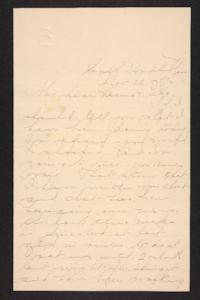 Letter from Amy Roberts Jones to  Augustus H. Roberts and Mary A. Roberts, 1896 November 22