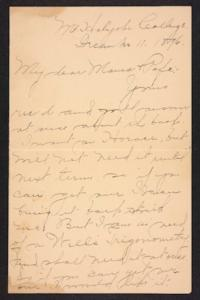 Letter from Amy Roberts Jones to  Augustus H. Roberts and Mary A. Roberts, 1896 December 11