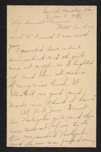 Letter from Amy Roberts Jones to Mary A. Roberts, 1897 January 5