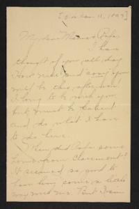 Letter from Amy Roberts Jones to Augustus H. Roberts and Mary A. Roberts, 1897 January 11