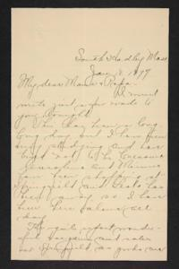 Letter from Amy Roberts Jones to Augustus H. Roberts and Mary A. Roberts, 1897 January 13