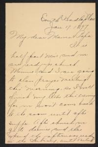 Letter from Amy Roberts Jones to Augustus H. Roberts and Mary A. Roberts, 1897 January 17