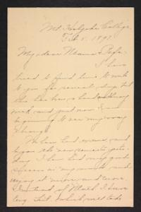 Letter from Amy Roberts Jones to Augustus H. Roberts and Mary A. Roberts, 1897 February 5