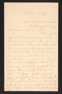 Letter from Amy Roberts Jones to Augustus H. Roberts and Mary A. Roberts, 1897 February 17