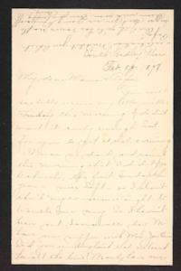 Letter from Amy Roberts Jones to Augustus H. Roberts and Mary A. Roberts, 1897 February 23