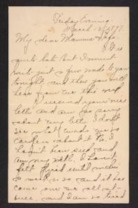 Letter from Amy Roberts Jones to Augustus H. Roberts and Mary A. Roberts, 1897 March 13