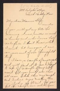 Letter from Amy Roberts Jones to Augustus H. Roberts and Mary A. Roberts, 1897 March 15
