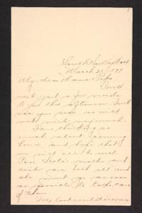 Letter from Amy Roberts Jones to Augustus H. Roberts and Mary A. Roberts, 1897 March 21