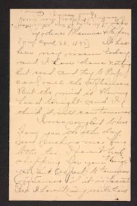 Letter from Amy Roberts Jones to Augustus H. Roberts and Mary A. Roberts, 1897 April 26