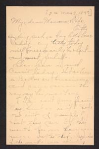 Letter from Amy Roberts Jones to Augustus H. Roberts and Mary A. Roberts, 1897 May 3