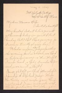 Letter from Amy Roberts Jones to Augustus H. Roberts and Mary A. Roberts, 1897 May 9