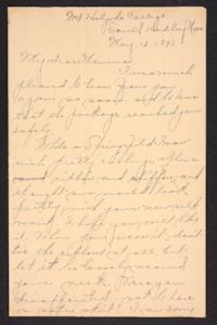 Letter from Amy Roberts Jones to Augustus H. Roberts and Mary A. Roberts, 1897 May 12