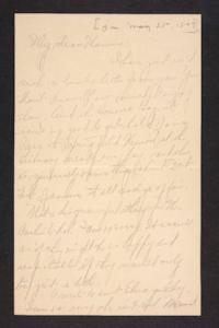 Letter from Amy Roberts Jones to Mary A. Roberts, 1897 May 25