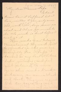 Letter from Amy Roberts Jones to Augustus H. Roberts and Mary A. Roberts, 1897 May 31