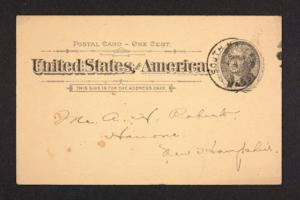 Postcard from Amy Roberts Jones to Mary A. Roberts, 1897 September 29