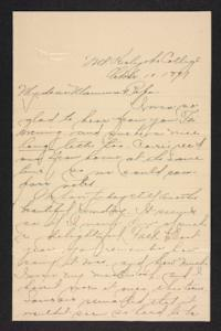 Letter from Amy Roberts Jones to Augustus H. Roberts and Mary A. Roberts, 1897 October 10