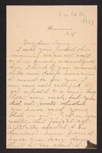Postcard from Amy Roberts Jones to Mary A. Roberts, 1897 October 20
