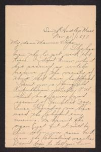 Letter from Amy Roberts Jones to Augustus H. Roberts and Mary A. Roberts, 1897 November 21