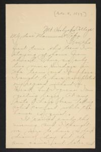Letter from Amy Roberts Jones to Augustus H. Roberts and Mary A. Roberts, 1897 December 5