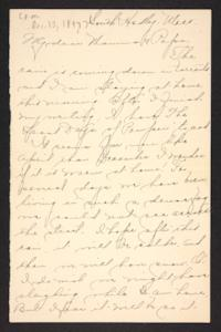 Letter from Amy Roberts Jones to Augustus H. Roberts and Mary A. Roberts, 1897 December 13