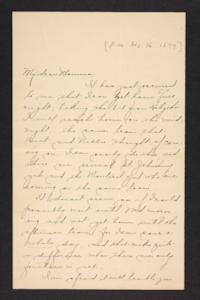 Letter from Amy Roberts Jones to Mary A. Roberts, 1897 December 16