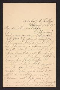 Letter from Amy Roberts Jones to Augustus H. Roberts and Mary A. Roberts, 1897 December 19