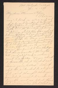 Letter from Amy Roberts Jones to Augustus H. Roberts and Mary A. Roberts, 1898 January 16
