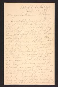 Letter from Amy Roberts Jones to Augustus H. Roberts and Mary A. Roberts, 1898 January 30