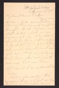 Letter from Amy Roberts Jones to Augustus H. Roberts and Mary A. Roberts, 1898 February 6