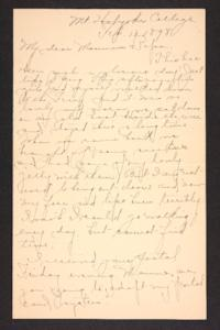 Letter from Amy Roberts Jones to Augustus H. Roberts and Mary A. Roberts, 1898 February 13