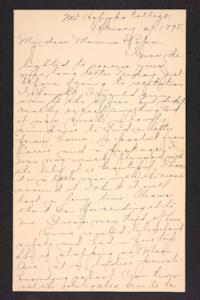 Letter from Amy Roberts Jones to Augustus H. Roberts and Mary A. Roberts, 1898 February 27