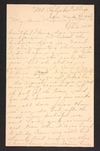 Letter from Amy Roberts Jones to Augustus H. Roberts and Mary A. Roberts,1898 March 7