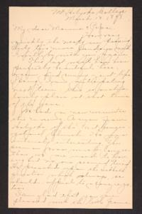 Letter from Amy Roberts Jones to Augustus H. Roberts and Mary A. Roberts,1898 March 13