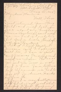 Letter from Amy Roberts Jones to Mary A. Roberts, 1898 March 23