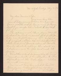 Letter from Amy Roberts Jones to Augustus H. Roberts and Mary A. Roberts, 1898 May 8