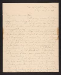 Letter from Amy Roberts Jones to Augustus H. Roberts and Mary A. Roberts, 1898 June 13