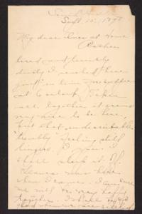 Letter from Amy Roberts Jones to her family, 1898 September 15